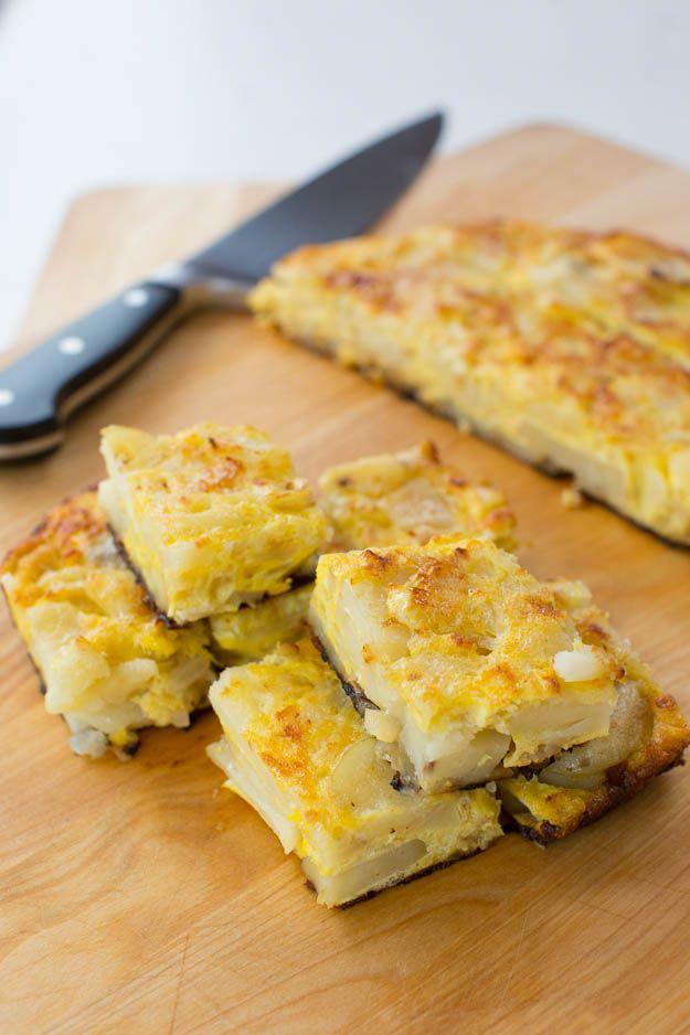 Tortilla Espanola | blog.sfcooking.com #eggs #recipe #tapas