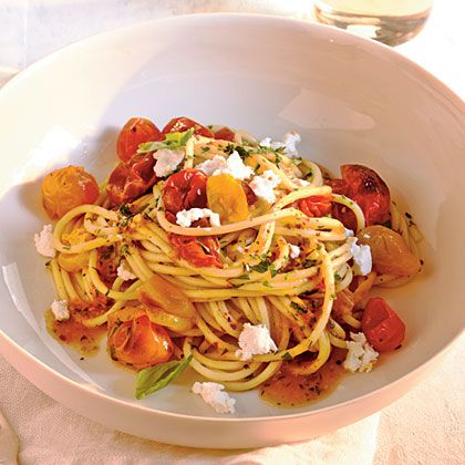 Quick-Roasted Cherry Tomato Sauce with Spaghetti | Recipe