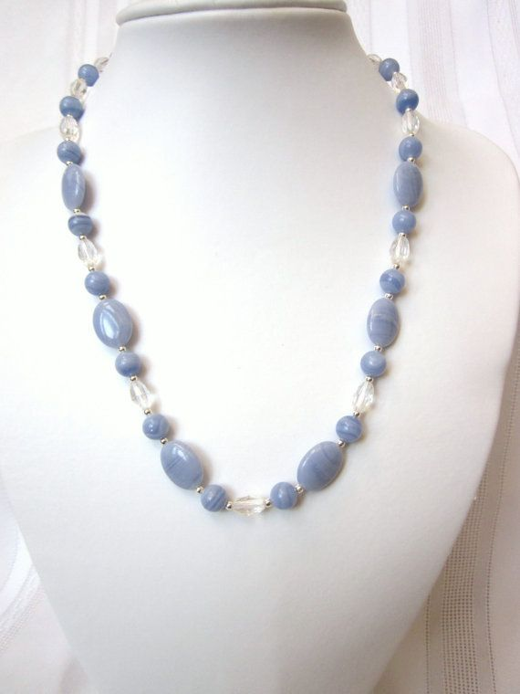blue lace agate necklace jewelry pieces i