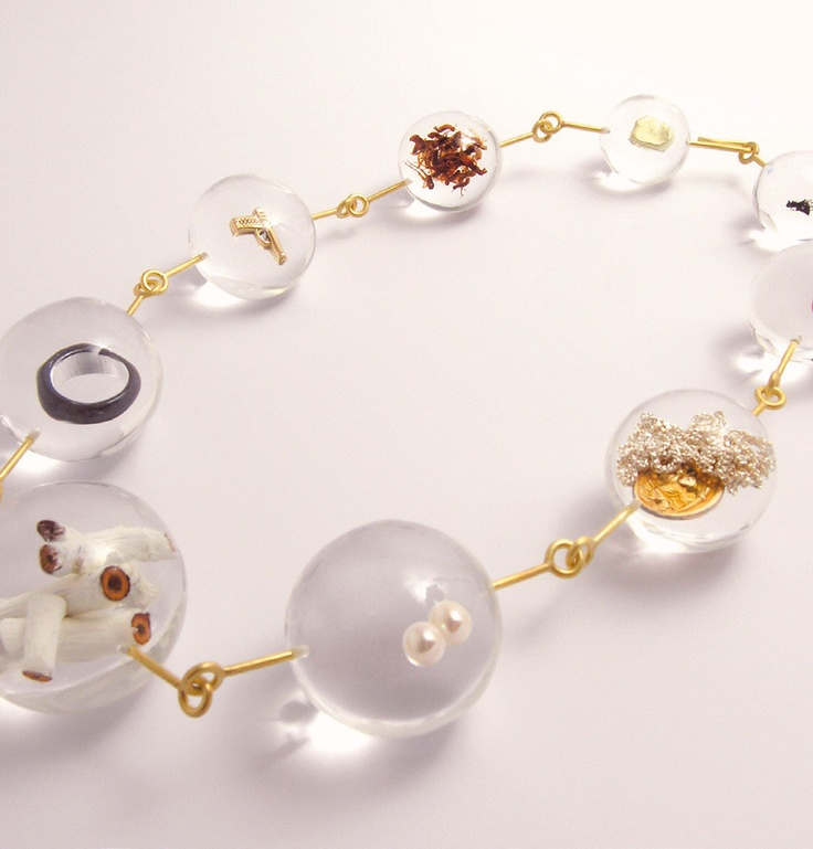 Ted Noten - Necklace: Ice Ball, 2007 - Inspired by Siberian Necklace 2006 - From the series Global Tactile Pie