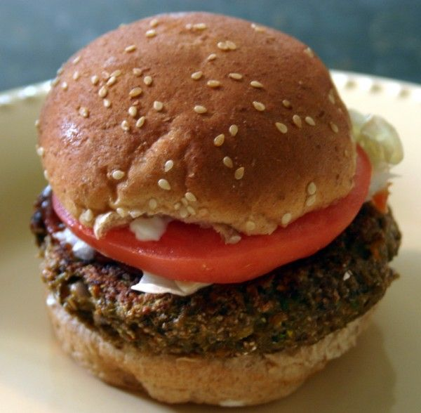Homemade veggie burger replace egg with flax egg
