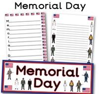memorial day acrostic poem worksheets