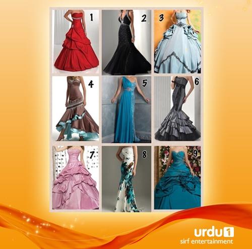 Which dress should Fatma wear on her wedding?