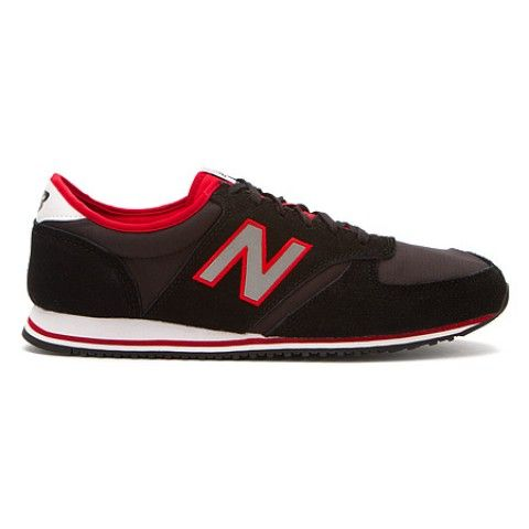 Womens New Balance Shoes U420 Black Suede Nylon