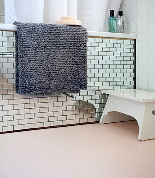 mirrored subway tile!