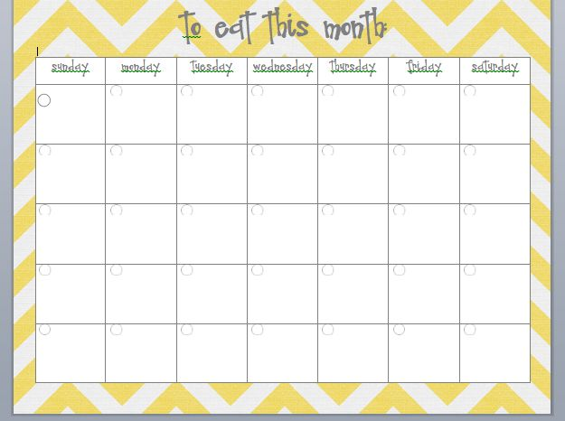 meal planning calendar organizing and cleaning pinterest
