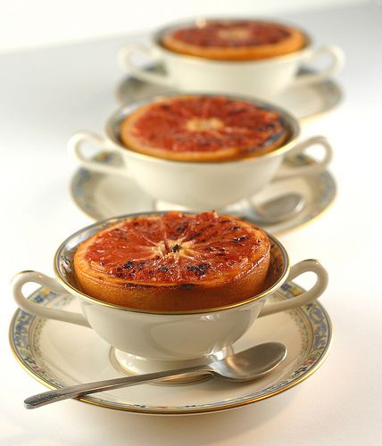 Brulee Grapefruit...broiled with brown sugar & butter...122 calories ...