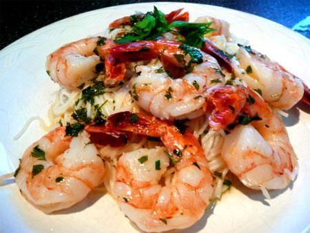Pan Seared Shrimp With Garlic-Lemon Butter | Recipe