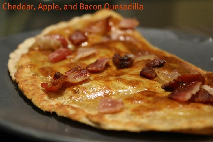 Cheddar, Apple, & Bacon Quesadillas | Delicious Food | Pinterest