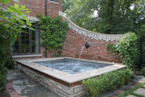 Maybe Hot Tub Is Our Water Feature New House Exterior