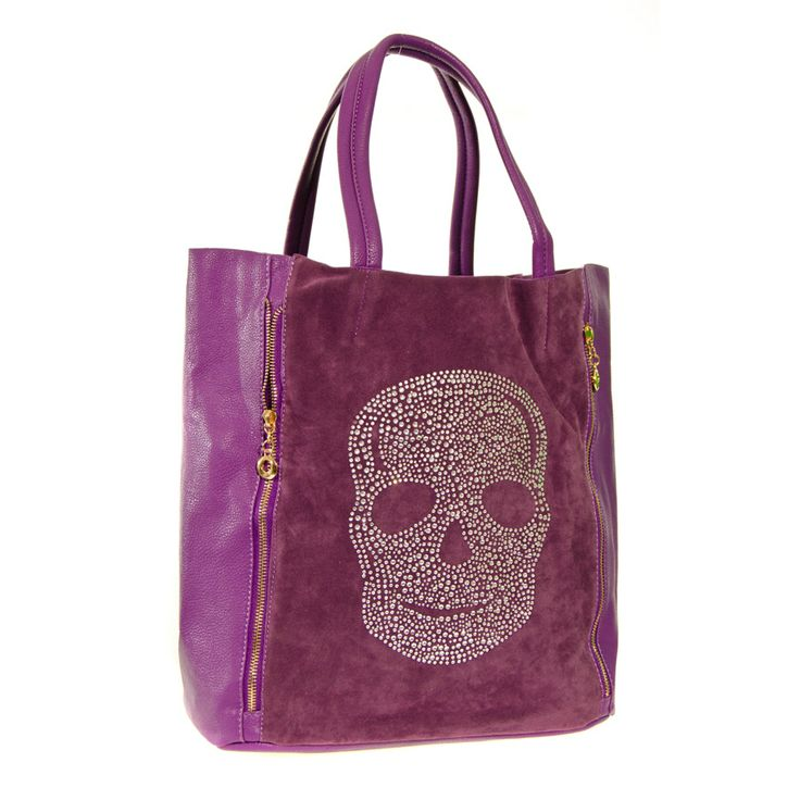 Blue Banana Skull Shopper Bag (Purple)