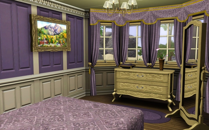 Royal purple bedroom | Donsvlinders interiors | Pinterest