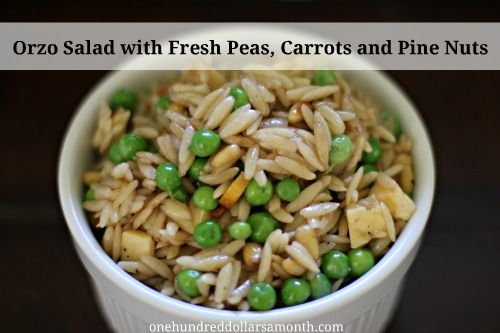 Orzo Salad with Fresh Peas, Carrots and Pine Nuts | One Hundred ...