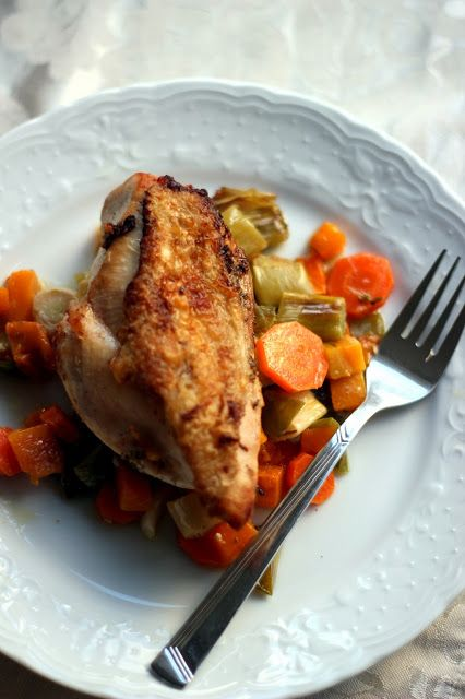 Roasted chicken with autumn vegetables | food i love | Pinterest