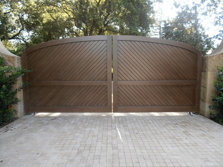 Exterior wooden doors for home - Custom Wooden Driveway Gate 147 Gated Driveway Pinterest