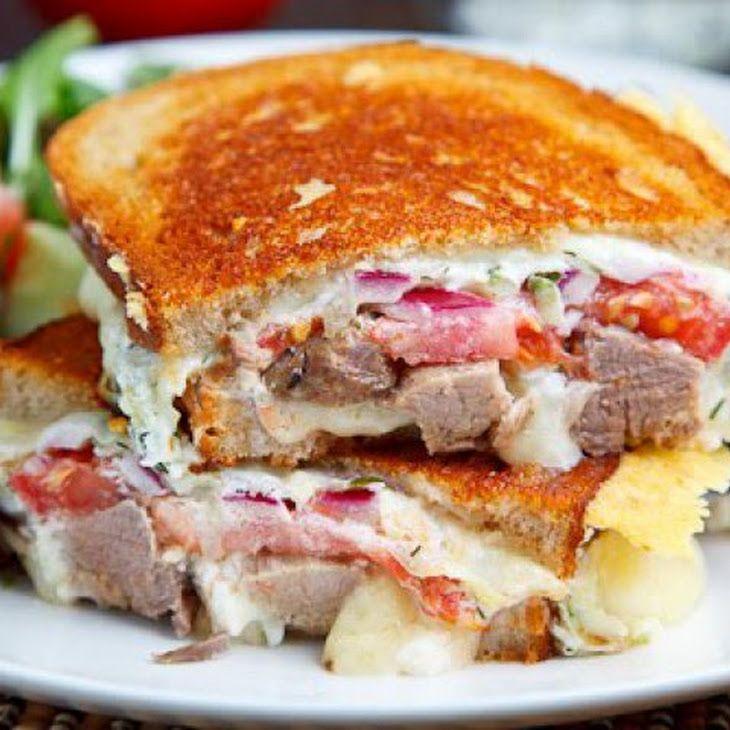 Gyro Grilled Cheese Sandwich (aka Gyro Melt) Recipe