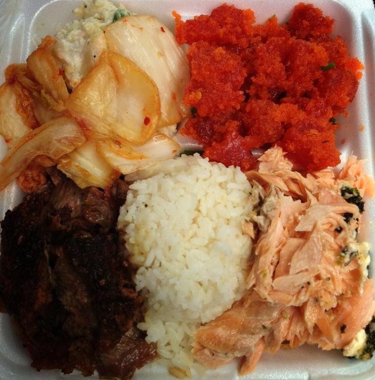 ... Ahi Poke...Kim Chee & Crab Macaroni/Potato Salad. Alicia's Market