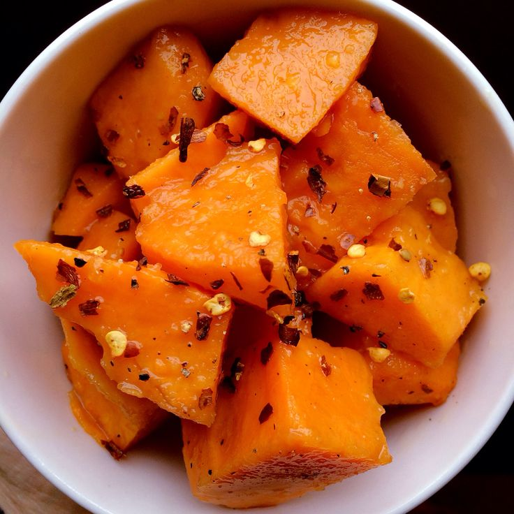 Apple and Ginger Roasted Sweet Potatoes finished with red pepper ...