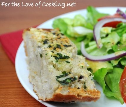 For the Love of Cooking » Kalamata Olive Garlic Bread