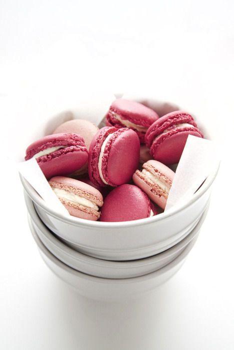rose/raspberry macaroons | Recettes | Pinterest