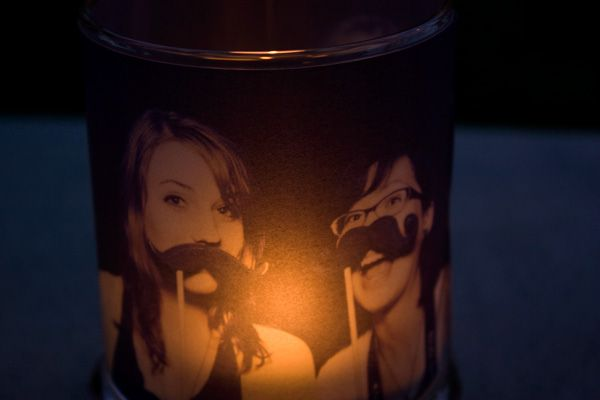 Votive Candles with personal pictures on them