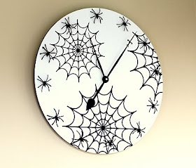 How to repurpose an old clock for Halloween (or be inspired to match any room theme!)