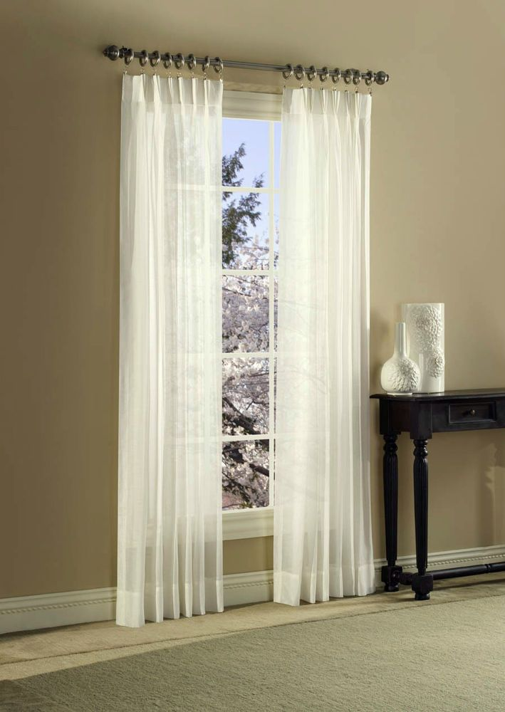 Pinch Pleated Semi Sheer Curtains Canopy Trousseau Lac
