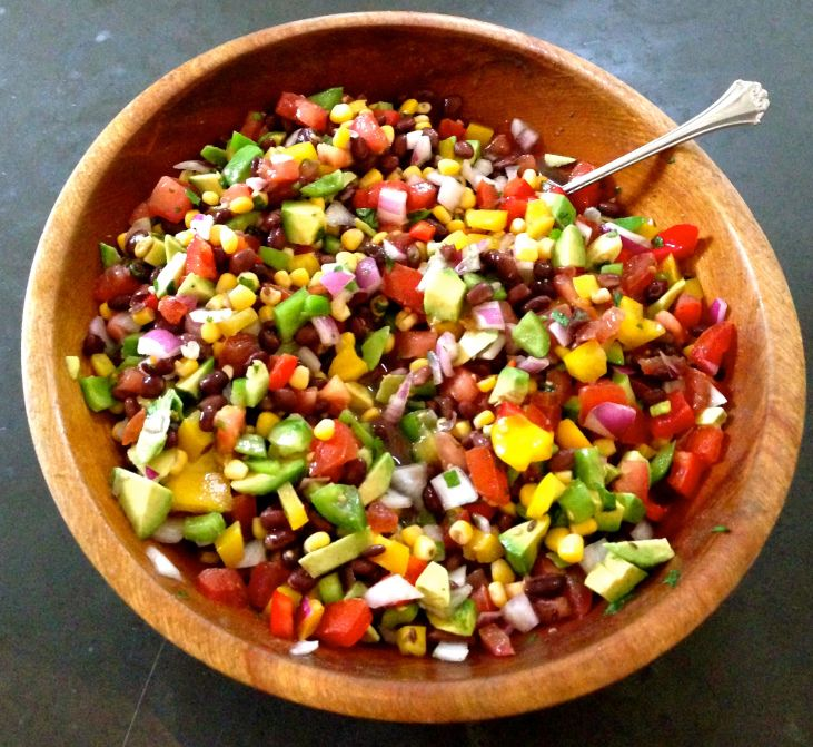 ... poblano and black bean salad herbed rice and spicy black bean salad