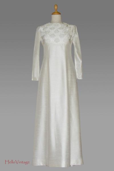 60er Brautkleid, Vintage, 1960 Hochzeitskleid