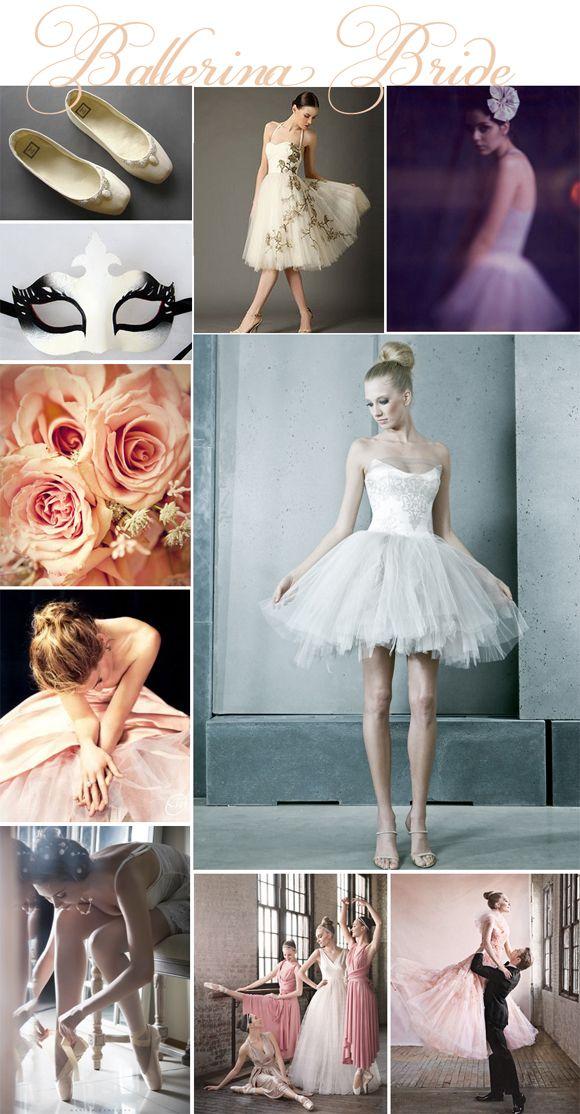 Ballerina Bride wedding inspiration board...