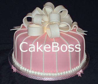 Cake With Fondant Ribbon : fondant bows Cake makes Everything Better Pinterest