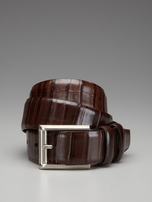 Torino Ribbed Leather Belt | Debonair and Sexy Men's Fashions
