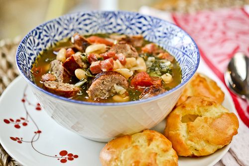 Swiss Chard, White Bean and Sausage Soup | Recipes | Pinterest