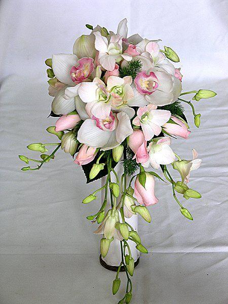 Wedding Flower Arrangements Orchid : Weddings natural looking brides bouquet wedding flowers