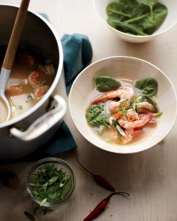 16 Quinoa Recipes - Roasted Red-Pepper Soup with Quinoa Salsa