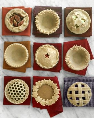 6 fun decorative pie crust ideas from Martha. Love!