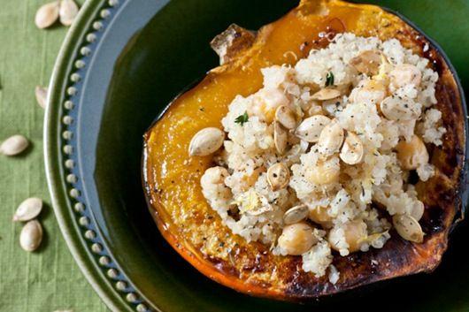 quinoa stuffed acorn squash, definitely need to make