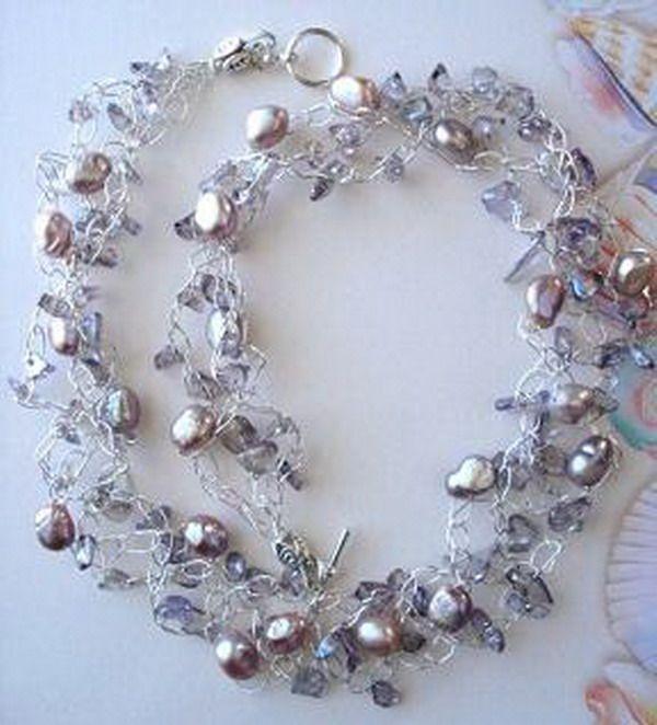 Wire Crochet : Wire Crochet Jewelry (1) diy Pinterest