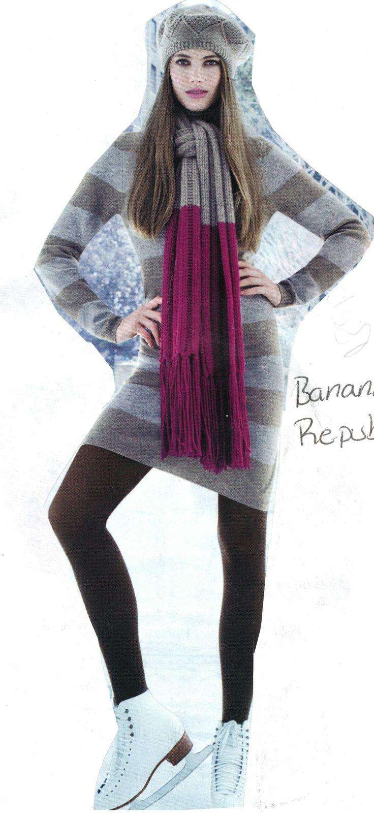 Banana Republic Sweater Dress Magazine Fashion Clips Pinterest