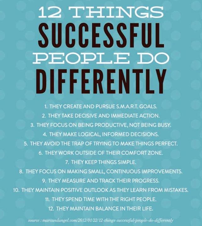 12 Things you need to know to become SUCCESSFUL