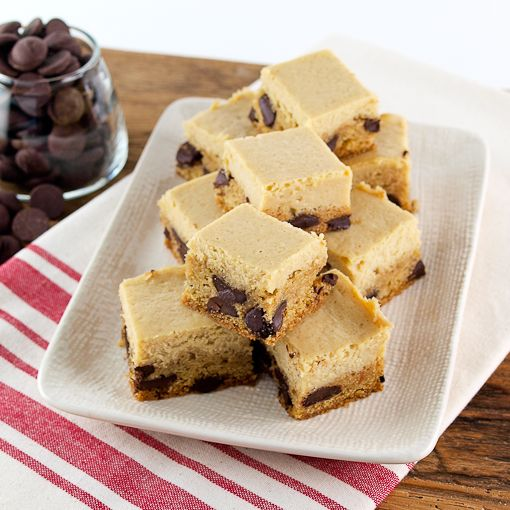 Butterscotch Cheesecake Topped Chocolate Chip Cookie Bars | Recipe