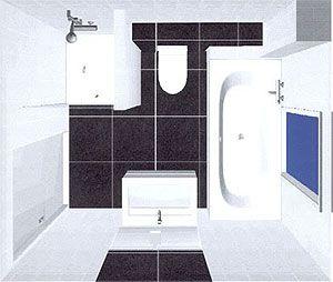 Indeling kleine badkamer badkamer pinterest - Badkamer indeling ...