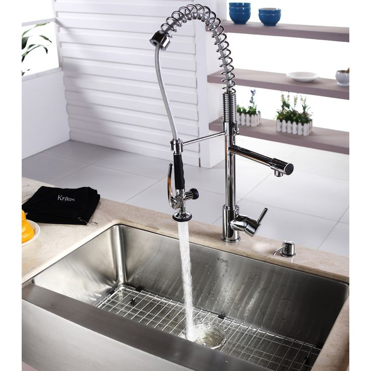 Pre Rinse Sink : Kraus Commercial Pre-rinse Chrome Kitchen Faucet Overstock.com ...