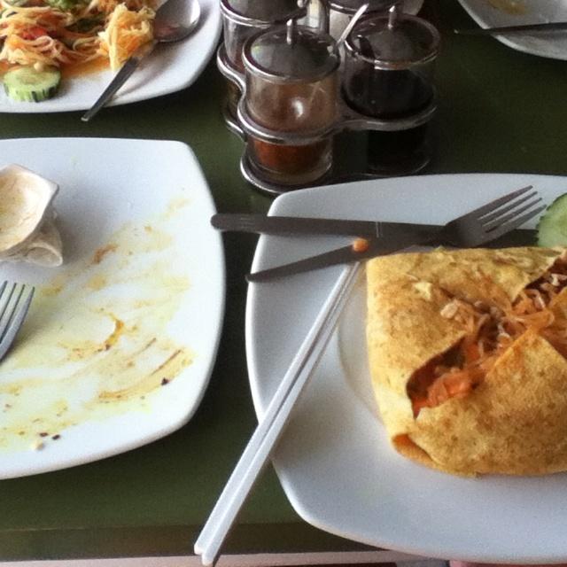 Pad Thai omelette #ko Phangan Thailand #delicious