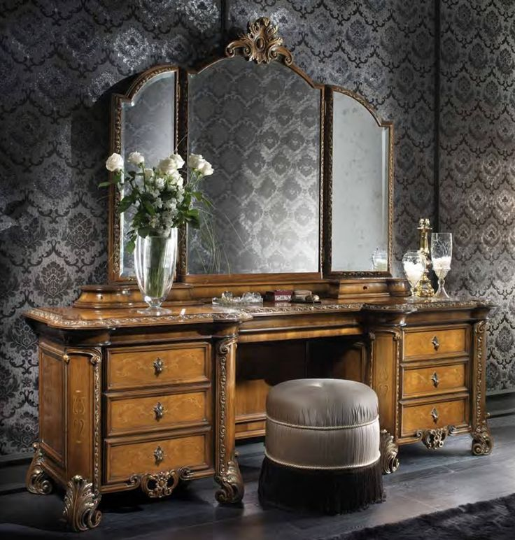 antique makeup vanity table furnish pinterest
