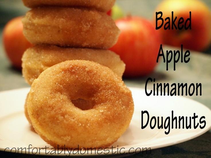 Baked Apple Cinnamon Doughnuts | Dunkin Donuts | Pinterest