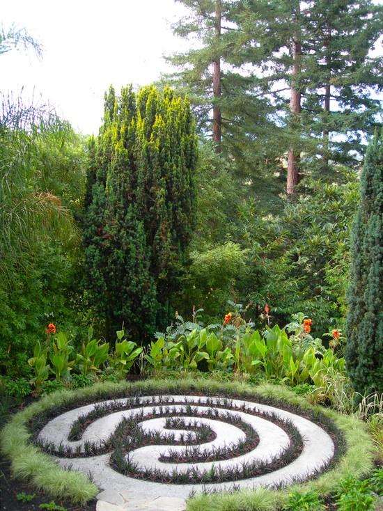 Labyrinth In The Garden Pinterest