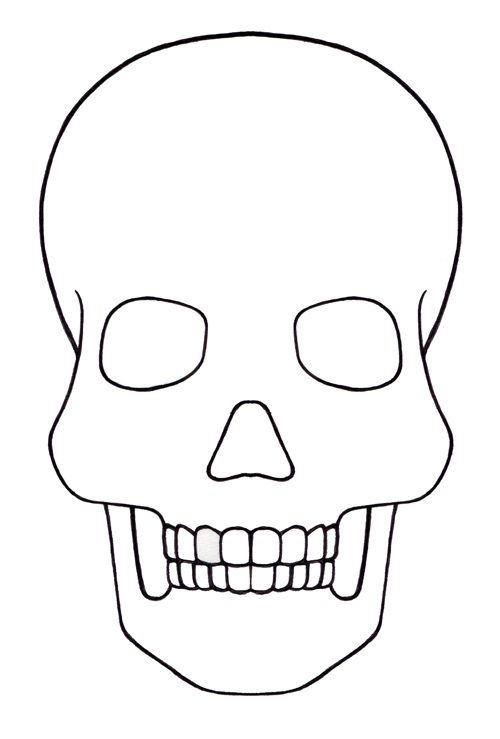 Day Of The Dead Skull Template Blank   pssucai