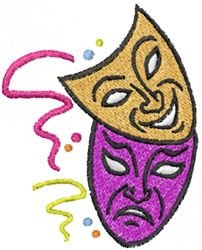 Face Masks embroidery design | Embroidery - Theater and Movies | Pint ...