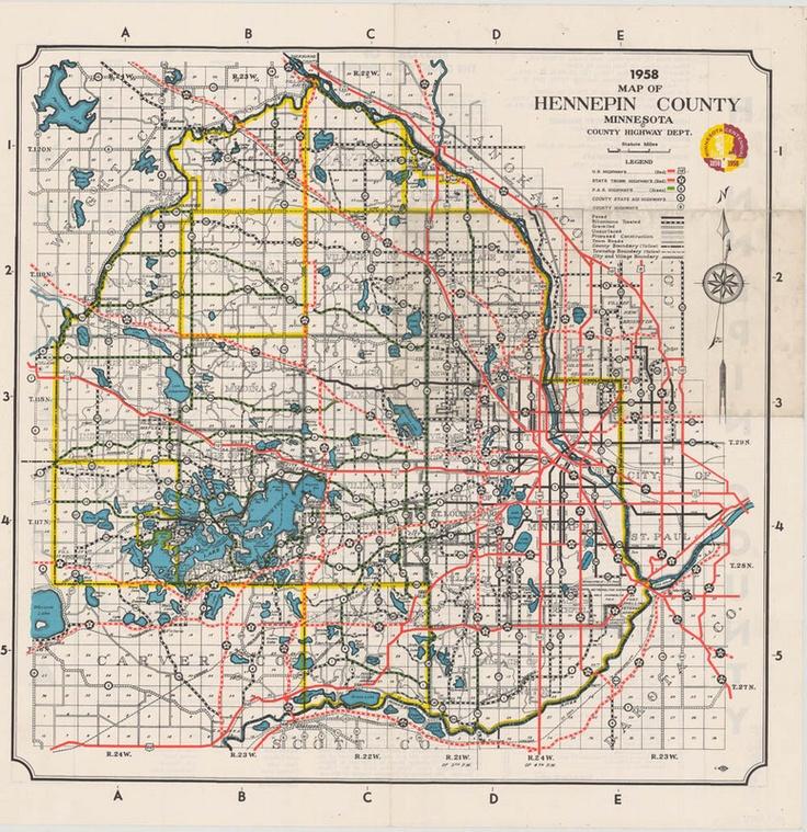 Map Of Minnesota Hennepin County  Minnesota  Pinterest